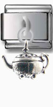 Antique Teapot Dangle Silver Charm