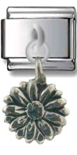 Large Flower Sterling Silver Charm
