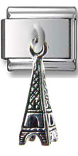 Eiffel Tower Dangle Silver Charm