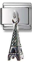 Eiffel Tower Dangle Silver Charm