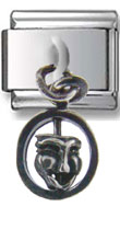Smiling Mask Sterling Silver Dangle Charm