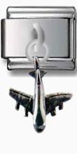 Jet Plane Silver Charm