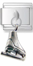 Ice Skate Dangle Silver Charm