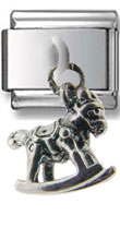 Rocking Horse Silver Charm