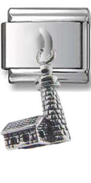 Lighthouse Dangle Silver Charm