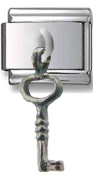 Hanging Key Silver Charm