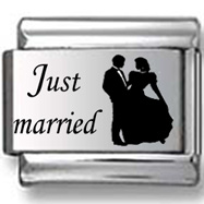 Just Married Laser Charm