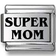 SUPER MOM Laser Charm