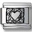 Abstract Mosaic Heart Laser Charm