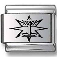 Star of David and Candle Laser Charm