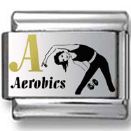 Gold and Black Aerobics Laser Charm