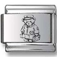 Bear Bellboy Laser Charm