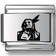 Navajo Indian Laser Charm