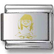 Little Girl in Cloth Gold Laser Charm