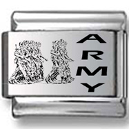 Army Troops Laser Charm