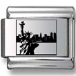 Statue of Liberty Black Laser Charm