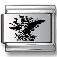 Eagle and Flag Laser Charm