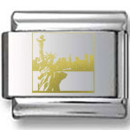 Statue of Liberty Gold Laser Charm
