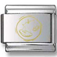 Gold Libra Scales Laser Charm