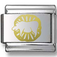 Gold Pig Year Laser Charm