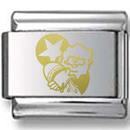 Gold Aquarius Star Laser Charm