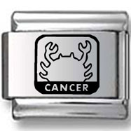 Cancer the Crab Black Laser Charm