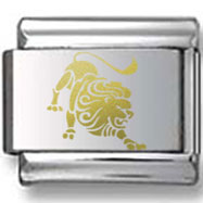 Leo the Lion Gold Zodiac Icon Laser Charm