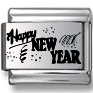 Happy New Year Text Laser Charm