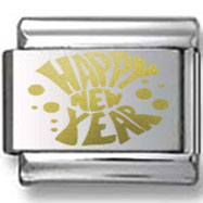 New Year Confetti Gold Laser Charm