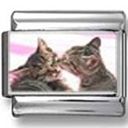 Kissing Kittens Photo Charm