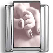 Baby and Mother's Hand Photo Charm