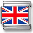 United Kingdom Flag Italian Charm