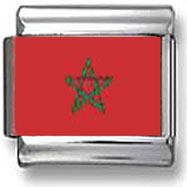 Moroccan Flag Photo Charm