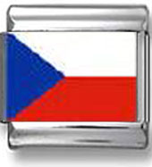 Czech Republic Flag Italian Charm