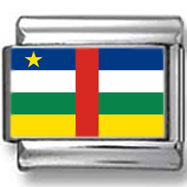 Central African Republic Flag Italian Charm