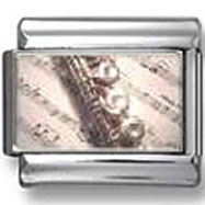 Flute and Sheet Music photo charm