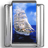 Ship Sailing Photo Charm