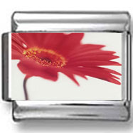 Red Flower Photo Charm