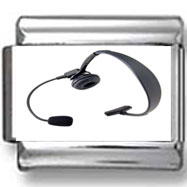 Headphones with Microphone Photo Charm