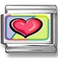 Tie-Dye Heart Photo Charm