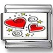 Heart Designs Photo Charm