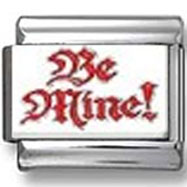 Be Mine Red & White Photo Charm