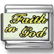 Faith in God Photo Charm