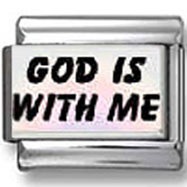 God Is With Me Photo Charm