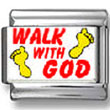 Walk with God Photo Charm