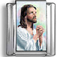 Jesus Praying Italian Charm