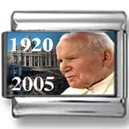 Pope John Paul II in front of Vatican Italian Charm