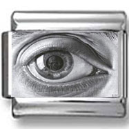 Black and White Eye Photo Charm