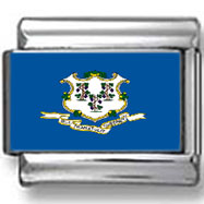 Connecticut State Flag Italian Charm