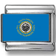 South Dakota State Flag Italian Charm